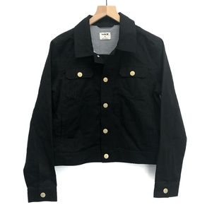 Hurley Black Jacket with Gold Buttons - Size M
